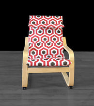 Load image into Gallery viewer, Red Brown Hexagon, IKEA KIDS POÄNG Cushion Slipcover, Magna Rojo, Ready to Ship