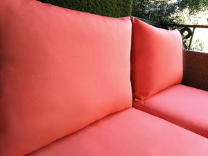 IKEA OUTDOOR Slip Cover, Solid Coral Pink, Melon Ikea Cushion Covers, Custom Ikea Decor, Bespoke Arholma Covers, Sunbrella Solid Coral