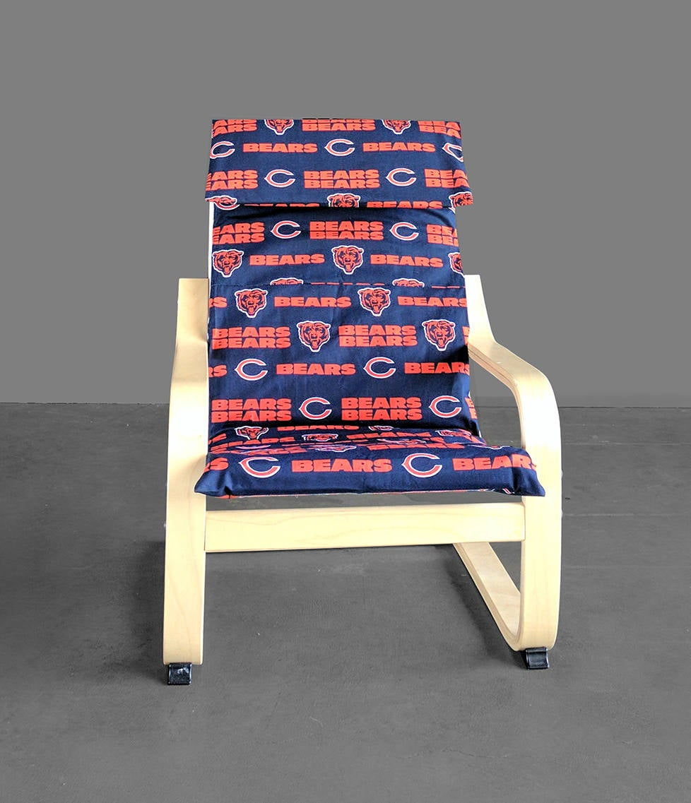 IKEA KIDS Poang Chair Cover, Chicago Bears, NFL Furniture Covers, Football Fan Fabric