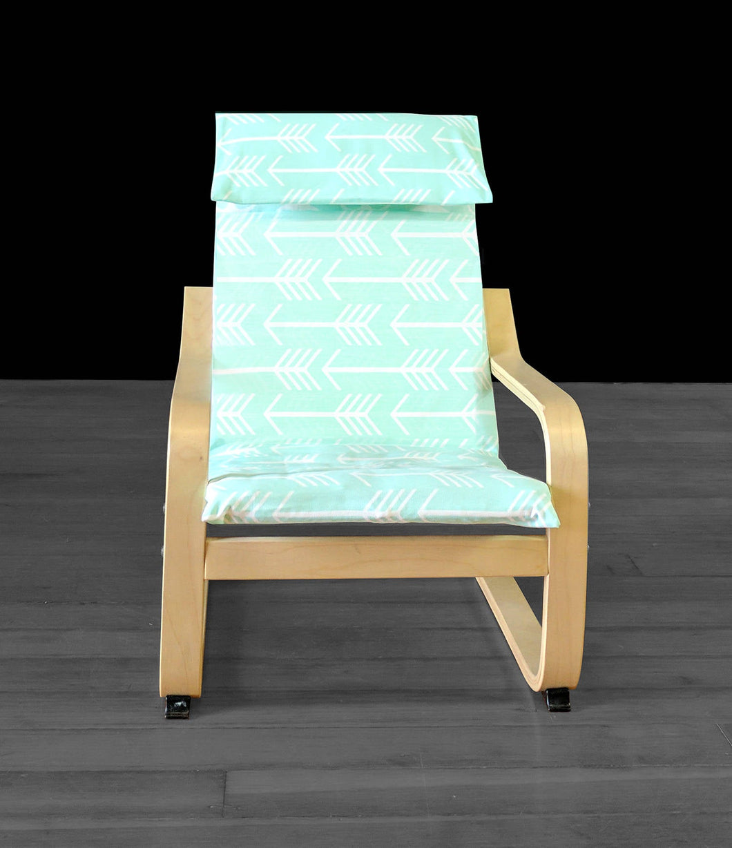 Mint Green Arrow Print IKEA KIDS POÄNG Seat Cover