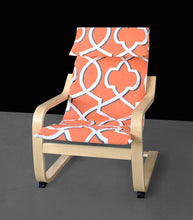 Load image into Gallery viewer, SALE Orange Retro Pattern Ikea Poang Chair Cover
