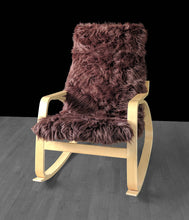 Load image into Gallery viewer, Brown Fur IKEA POÄNG Cushion Slipcover, Custom Fur Ikea Chair Cover