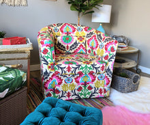 Load image into Gallery viewer, IKEA TULLSTA Chair Cover, Mexican Colorful Floral Print, Santa Maria Desert Flower