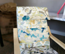 Load image into Gallery viewer, Patchwork Blue Metallic Gold Floral IKEA Childrens POÄNG Cushion Slipcover