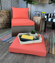Load image into Gallery viewer, IKEA OUTDOOR Slip Cover, Solid Coral Pink, Melon Ikea Cushion Covers, Custom Ikea Decor, Bespoke Arholma Covers, Sunbrella Solid Coral