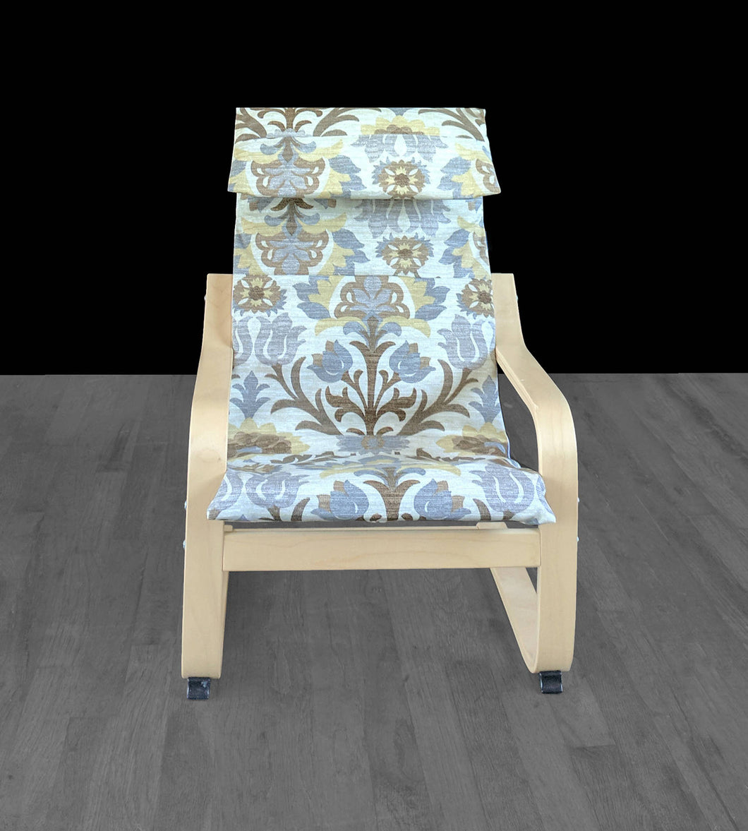 Earthy Floral Ikea Poang Chair Cover, Ikea Kids Poang Seat Cover, Santa Maria Moonstone