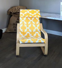 Load image into Gallery viewer, Patchwork Yellow Patterned Childs POÄNG Cushion Slipcover