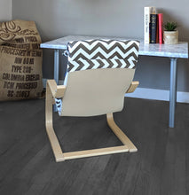 Load image into Gallery viewer, Brown White Chevron, IKEA KIDS POÄNG Seat Cover