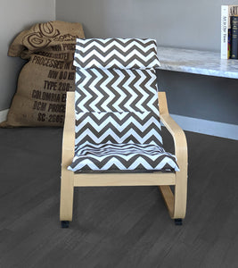 Brown White Chevron, IKEA KIDS POÄNG Seat Cover