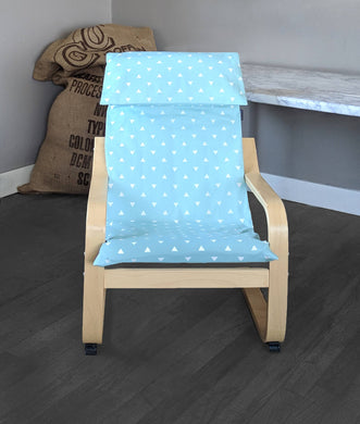 KIDS POÄNG Triangle Cushion Seat Cover, Baby Blue