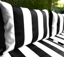 Load image into Gallery viewer, IKEA Hallo Kungso OUTDOOR Slip Cover, Ikea Cushion Covers, Ikea Decor, Bespoke Arholma Covers, Black Canopy Stripe