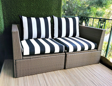 IKEA Hallo Kungso OUTDOOR Slip Cover, Ikea Cushion Covers, Ikea Decor, Bespoke Arholma Covers, Black Canopy Stripe