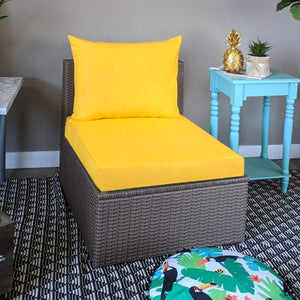 Sunbrella Solid Yellow IKEA OUTDOOR Slip Cover, Ikea Cushion Covers, Custom Ikea Decor, Bespoke Arholma Covers