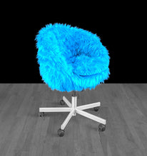 Load image into Gallery viewer, IKEA SKRUVSTA Chair Slip Cover, Turquoise Blue Fur