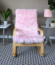 Load image into Gallery viewer, Blush Pink Faux Fur IKEA POÄNG