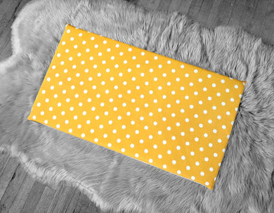 Golden Yellow Polka Dot, IKEA STUVA Bench Pad Slip Cover