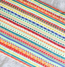 Load image into Gallery viewer, Colorful Fiesta Stripe IKEA VISSLA Bench Pad Slip Cover
