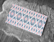 Load image into Gallery viewer, Tribal Pattern, IKEA STUVA Bench Pad Slip Cover, Pink, Navy
