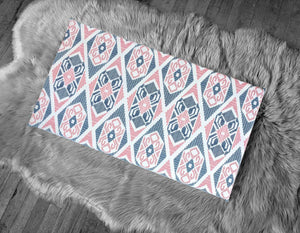 Tribal Pattern, IKEA STUVA Bench Pad Slip Cover, Pink, Navy