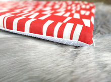 Load image into Gallery viewer, Geometric Red Slip Cover for IKEA HEMMAHOS Bench Pad, Sticks Print