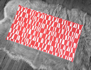 Geometric Red Slip Cover for IKEA HEMMAHOS Bench Pad, Sticks Print