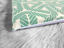 Load image into Gallery viewer, IKEA STUVA Bench Pad Slip Cover, Outdoor Aqua Blue Nautical Rope Print