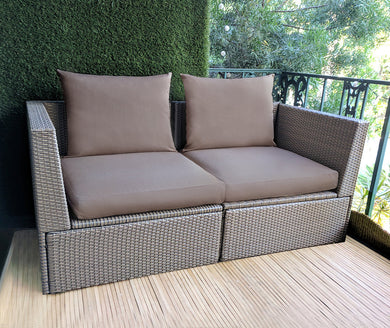 IKEA OUTDOOR Slip Cover, Ikea Cushion Covers, Ikea Decor, Bespoke Arholma Covers, Sunbrella Solid Cocoa Brown