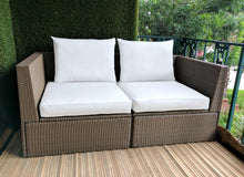 Load image into Gallery viewer, Sunbrella White IKEA OUTDOOR Slip Cover, Ikea Cushion Covers, Custom Ikea Decor, Bespoke Arholma Covers
