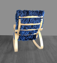 Load image into Gallery viewer, Navy Blue Fur IKEA POÄNG Cushion Slipcover, Custom Fur Ikea Chair Cover