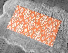 Load image into Gallery viewer, Orange Indian Ikat Print, IKEA STUVA Bench Pad Slip Cover, Raji