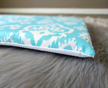 Load image into Gallery viewer, SAMPLE Blue Indian Ikat Print, IKEA STUVA Bench Pad Slip Cover, Raji