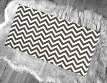 Load image into Gallery viewer, Chocolate Brown Chevron Pattern IKEA STUVA Bench Pad Slip Cover, Zig Zag