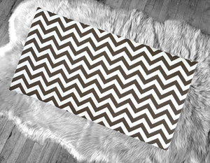 Chocolate Brown Chevron Pattern IKEA STUVA Bench Pad Slip Cover, Zig Zag