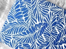 Load image into Gallery viewer, Tropical Blue Palm Leaves Slip Cover for IKEA HEMMAHOS Bench Pad