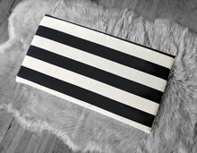 Load image into Gallery viewer, IKEA STUVA Bench Pad Slip Cover, Outdoor Black Beige Cabana Stripe