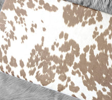 Load image into Gallery viewer, IKEA HEMMAHOS Bench Pad Slip Cover, Cow Print Light Brown, Animal Print, Palomino