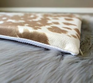 IKEA HEMMAHOS Bench Pad Slip Cover, Cow Print Light Brown, Animal Print, Palomino
