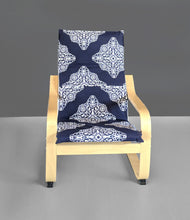 Load image into Gallery viewer, Navy Blue KIDS POÄNG Cushion Seat Cover