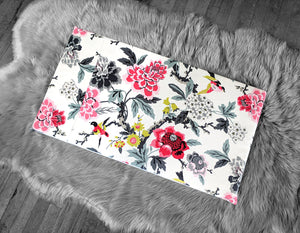 Colorful Flowers IKEA STUVA Bench Pad Slip Cover, Birds