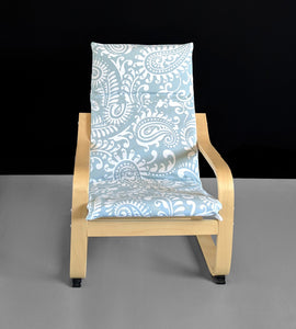Blue Damask Kids Ikea Poang Seat Cover