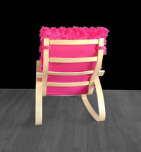 Load image into Gallery viewer, Hot Pink Fur IKEA POÄNG Cushion Slipcover, Custom Fur Ikea Chair Cover