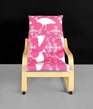 Load image into Gallery viewer, Patchwork Pink Peacock Ikea KIDS POÄNG Cushion Slipcover