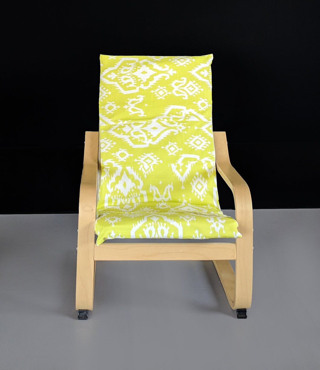 Lime Green Indian Ikat Children's Poang Chair Cover