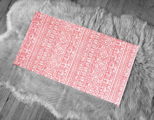 Load image into Gallery viewer, Coral Pink Tribal Pattern, IKEA STUVA Bench Pad Slip Cover