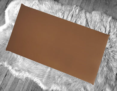 Chocolate Solid Brown Fabric IKEA Bench Pad Slip Cover