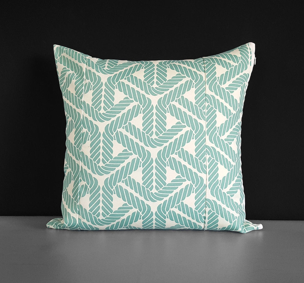 Outdoor Blue Rope Print Pillow Cover