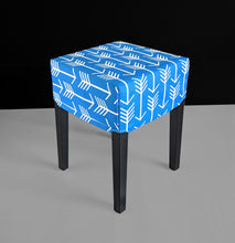 Load image into Gallery viewer, Blue Arrows Cover for IKEA Nils Stool