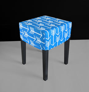 Blue Arrows Cover for IKEA Nils Stool