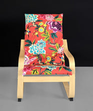Load image into Gallery viewer, Patchwork Red Floral IKEA Childrens POÄNG Cushion Slipcover