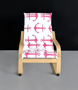 Hot Pink Anchor KIDS POÄNG Cushion Slip Cover